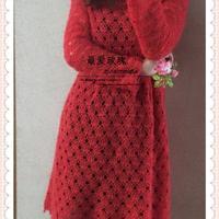 秋妍冬款火红的玫瑰火红的裙
