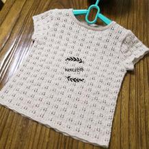 简单易织儿童棒针短袖套头衫