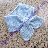 简单经典棒针蝴蝶领巾式小围巾编织详解