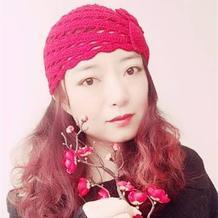 秋季靓丽百搭女士钩针花朵帽