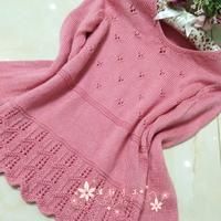 樱花粉色实用百搭的小V领毛衣