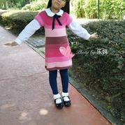 可爱甜美风彩色童年蛋糕纱连衣裙