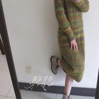 秋天的胡杨林 --- 文艺范儿宽松高领长袍裙