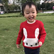 宝宝棒针小兔子毛衣(附自己设计毛衣的编织方法和袖子缝合法)