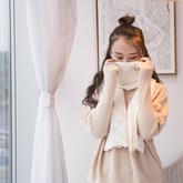 拾光 斜格镂空花棒针饼干花围巾U乐娱乐youle88视频教程