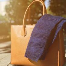 横竖都是爱 织法超简单的极简风儿童棒针围巾