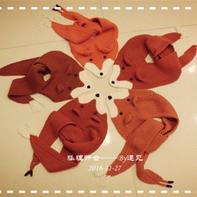 狐步舞围巾 大热款棒针狐狸围脖编织过程