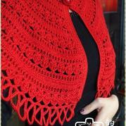 特别有魅力的一款中国红羊毛羊绒披肩