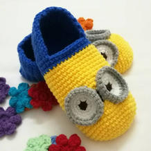 图文详解小黄人宝宝鞋钩法