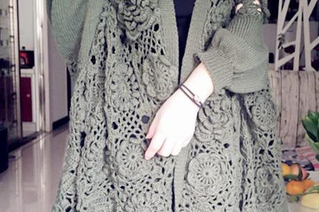 第80期|花样钩编不一样的拼花大衣,每年都要搞点特殊化~