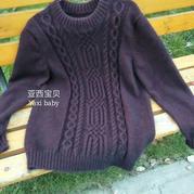 七彩虹男士圈织貂绒套头毛衣