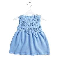 春秋款儿童钩织结合宝宝背心裙编织视频