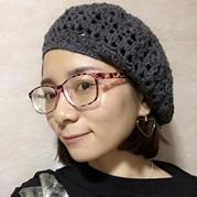 粗针织女士钩针韩版时尚贝雷帽