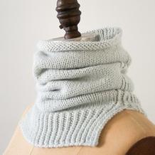 雾灰 心机满满的超简单粗针织棒针围脖