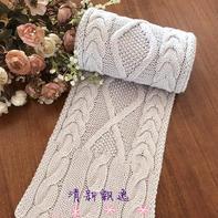 男女都适合的云舒粗针织棒针麻花菱格围巾