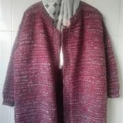 冬季保暖夹花线平针休闲外套