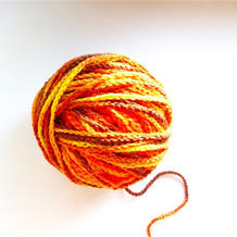 不用染也可以DIY段染毛线 使用这种技能基本一点也不浪费毛线