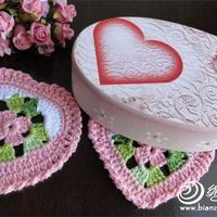 """织女之""""心"""" 美美的各种心形钩织大集合"""