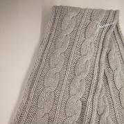 仿大牌Loro Piana棒针羊绒男士围巾