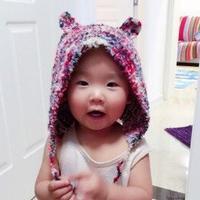 小熊乖乖 一天即可完成带小耳朵的棒针宝宝帽