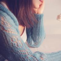 简蓝 浪漫蕾丝镂空花女士棒针春秋外搭开衫