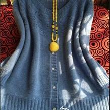 罗莎琳达生态山羊绒女士圆领开衫