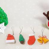 圣诞主题小物编织视频教程(4-2)圣诞帽挂件钩法