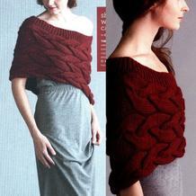 很有女性魅力的一款红色慵懒格调披肩