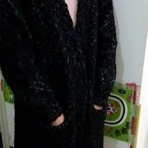 冬季保暖必备女士无扣中长款外套