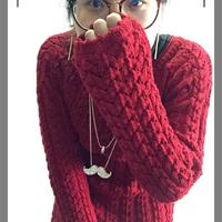 冬季保暖长袖羊毛套头衫