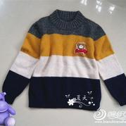 大平针也可以如此活泼的男童拼色羊绒衫