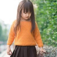 110-130cm儿童钩针长袖毛衣编织视频教程
