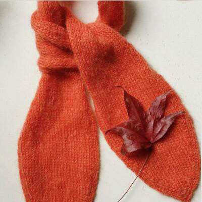 百搭极简领巾式棒针蝴蝶小围巾