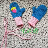 简单好织钩针儿童合指手套编织方法