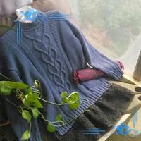 男女都适合的经典实用棒针心相印圆领毛衣