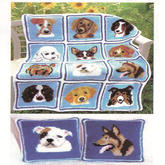 可用来拼毯子钩抱枕的12款狗狗图案 2018狗年主题编织