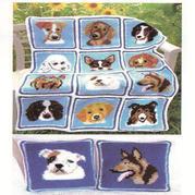 可用來拼毯子鉤抱枕的12款狗狗圖案 2018狗年主題編織