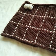 先织后绣一款两用儿童棒针围脖帽