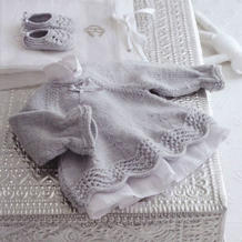 小天使梦幻般的美衣 宝宝棒针背开扣裙衣