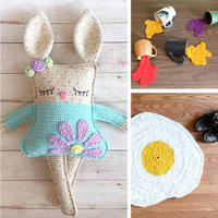 短针魅力钩织创意玩偶与居家用品