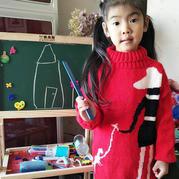 童真童趣儿童棒针卡通图案毛衣