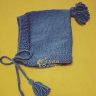 新手也可以轻松完成的宝宝棒针系带流苏帽子
