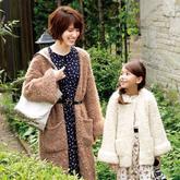 圈圈线编织母女款休闲宽松外套毛衣
