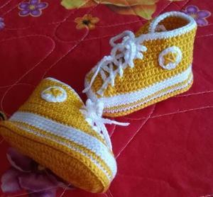 给侄孙宝贝的周岁贺礼 钩针宝宝鞋编织方法过程图