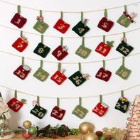 还可以用来记事的毛线编织创意日历礼品袋