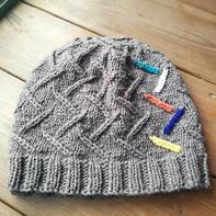 鸿雁改版 实用大方粗针织棒针毛线帽