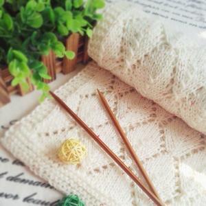 慕秋 女士棒针秋冬菱格镂空围巾