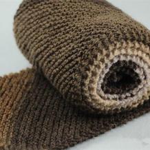 男女通用棒针斜纹大平针围巾编织教程