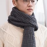 爱马仕2017年同款花型条纹格围巾编织视频