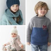 这些宝贝的毛衣件件想让人抱回家 phildar2017-2018法国针织儿童秋冬毛衣欣赏
